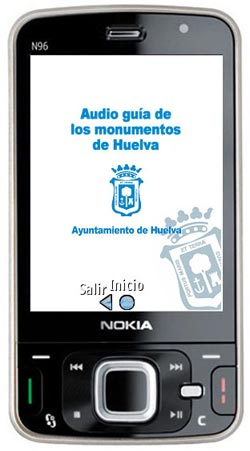 service de guide audio wifi bluetooth - monuments Huelva