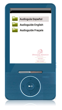 audioguide player AG25 - languages