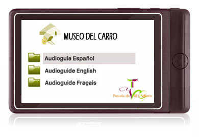 Audio guide AG55 - language selector