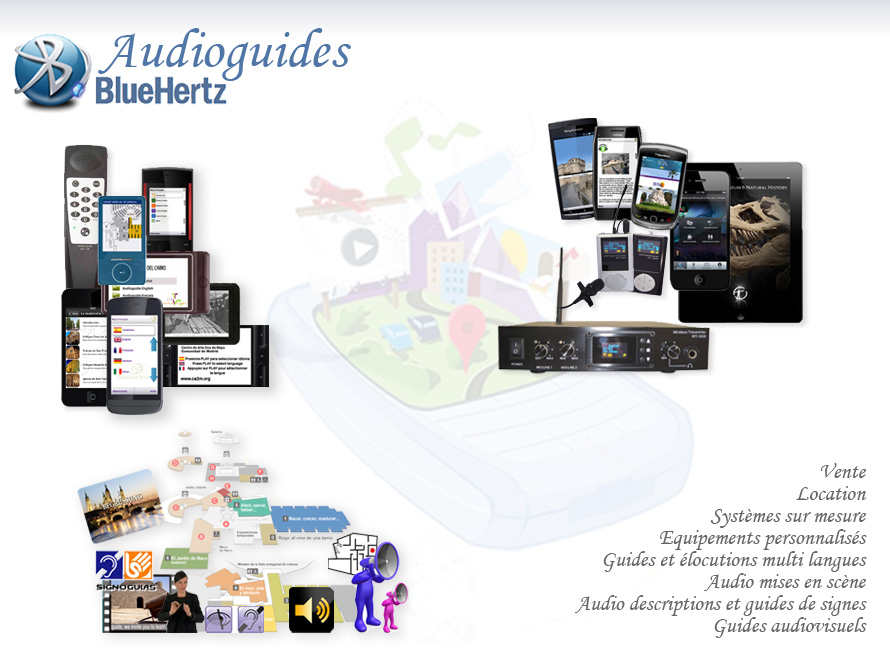 audioguides, radioguides, guide system, système de guide
